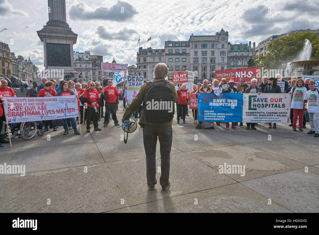 national health demonstration,  London.   NHS protest. - Stock Image