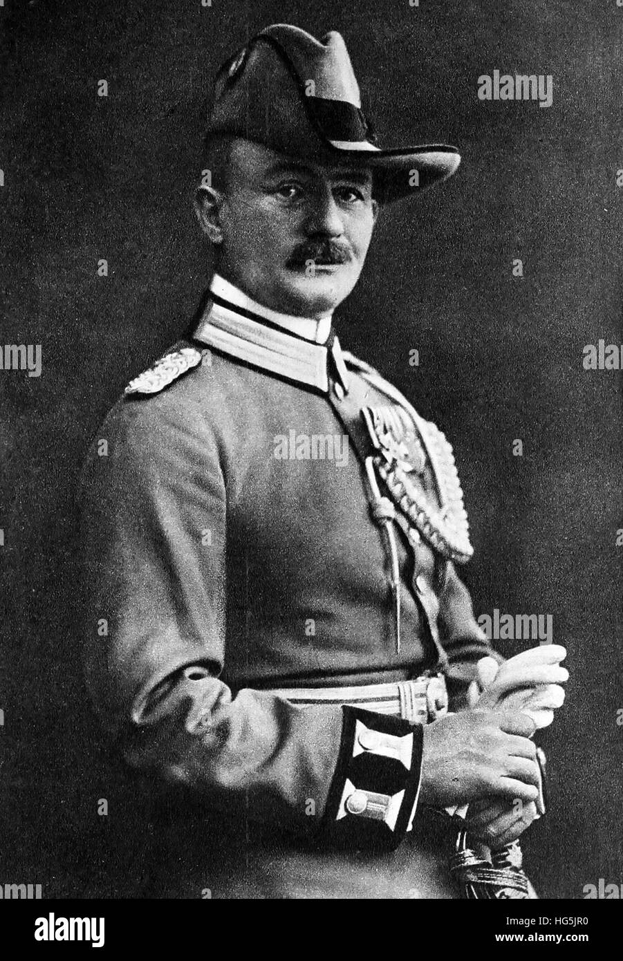 PAUL von LETTOW-VORBECK (1870-1964) Imperial German Army Commander during its East Africa campaign - Stock Image
