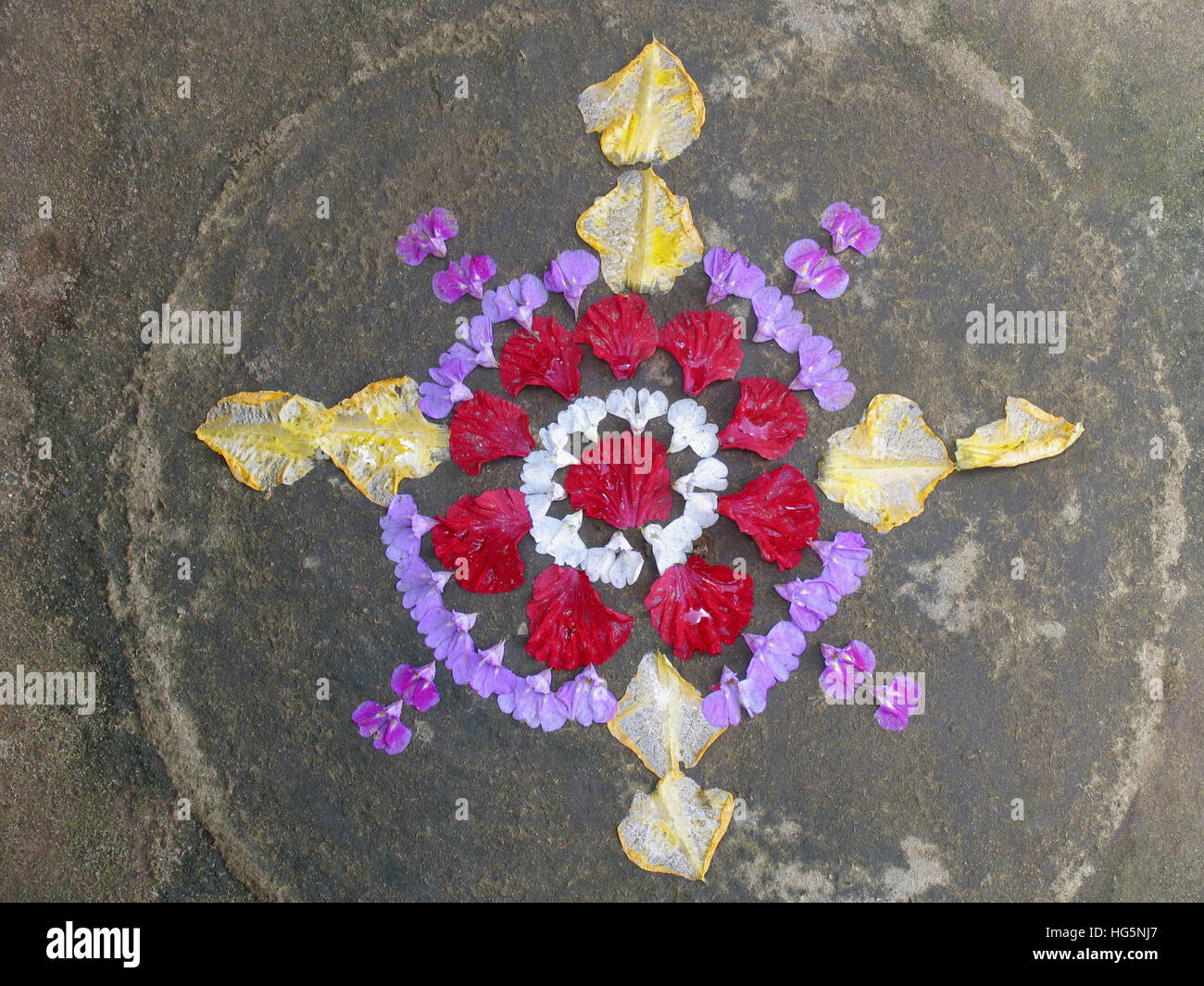 Flower Decoration During Onam Festival In Kerala Flowers Are Brought And Arranged Various Formations Known As Athappookalam It Is An Assortment