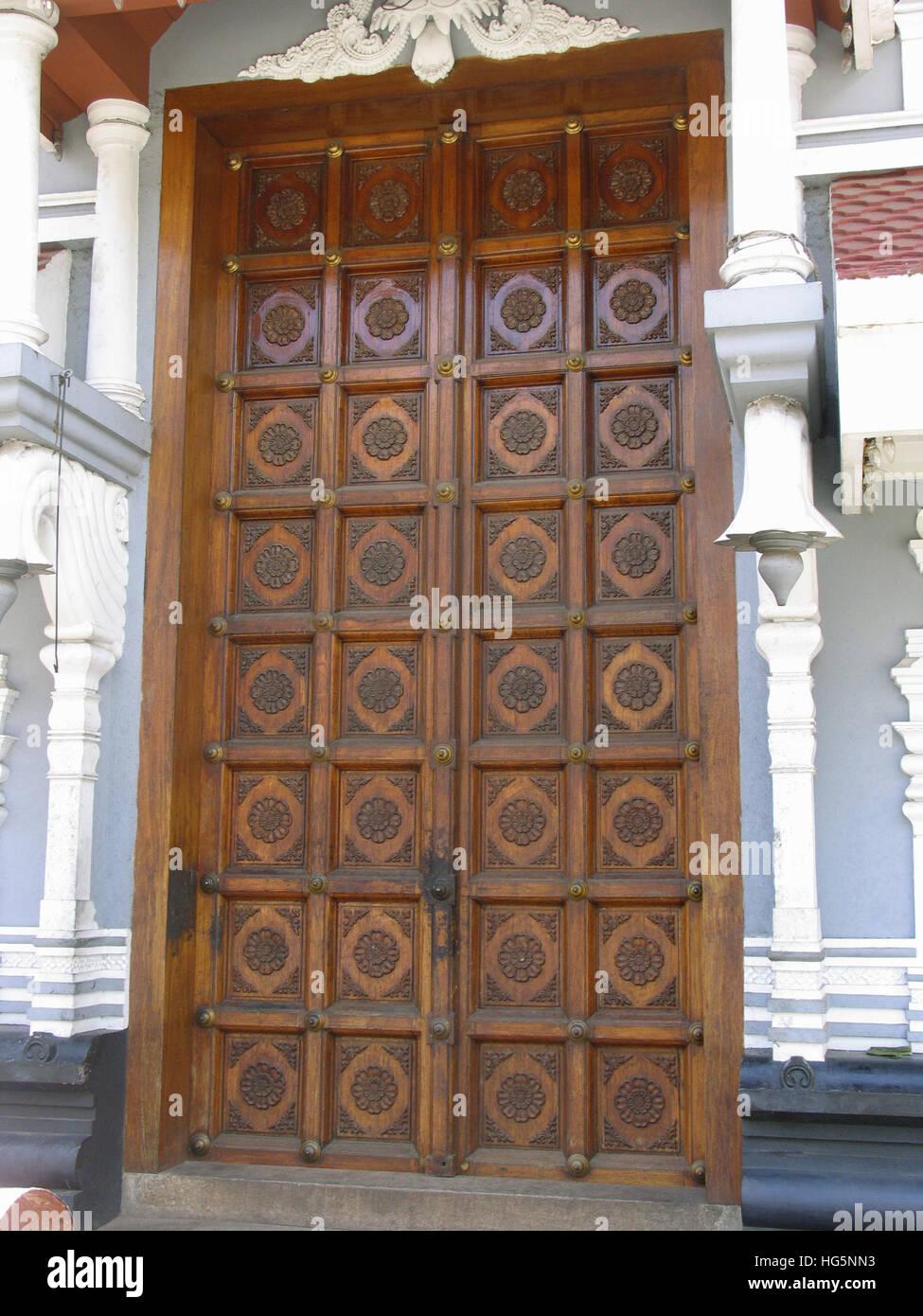 Thiruvambadi Temple Shoranur Road. Thrissur / Trichur, Kerala, India - Stock Image