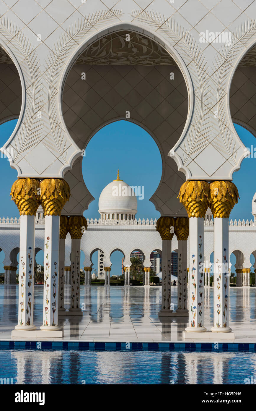 Sheikh Zayed Mosque, Abu Dhabi, United Arab Emirates - Stock Image