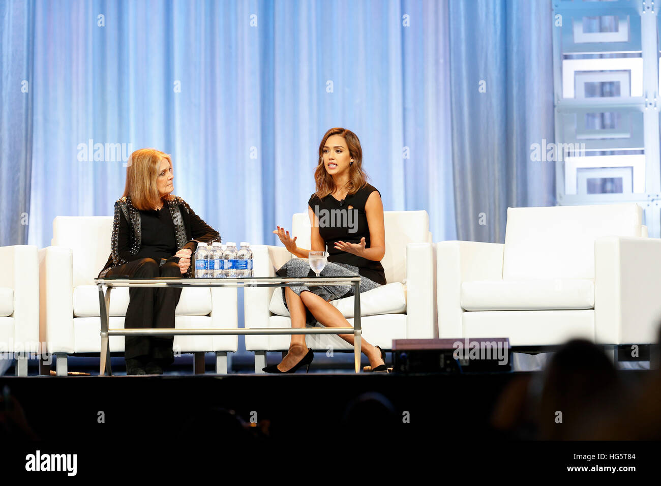 Summer Conference Keynoted By Jessica >> Jessica Alba And Gloria Steinem Speak During A Keynote Q A At The