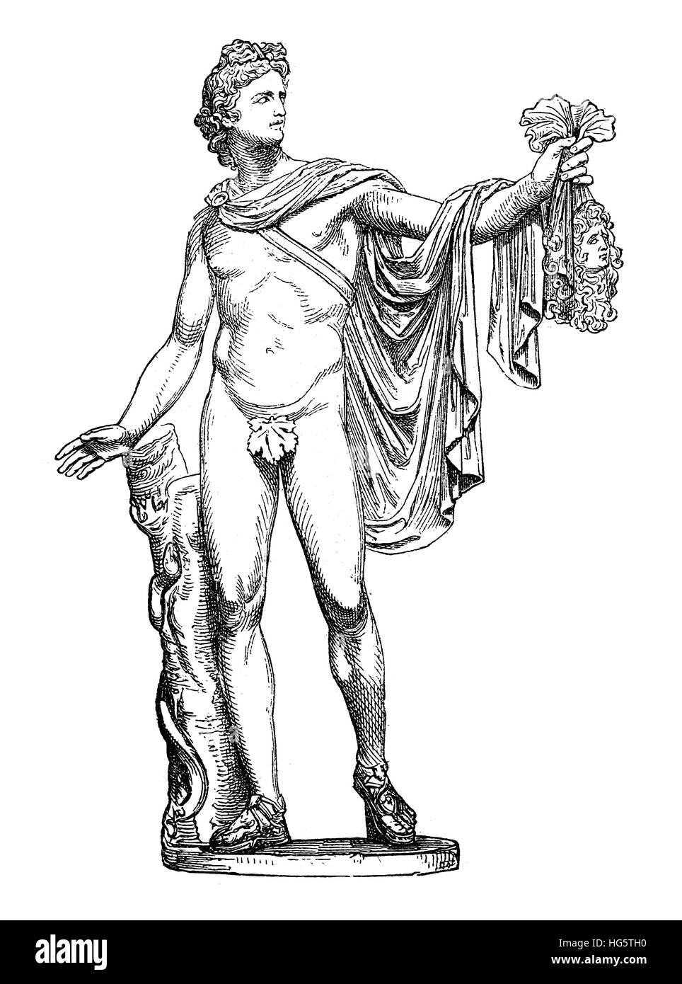 Ancient Roman marble sculpture Apollo of the Belvedere, now in Vatican Museum Stock Photo