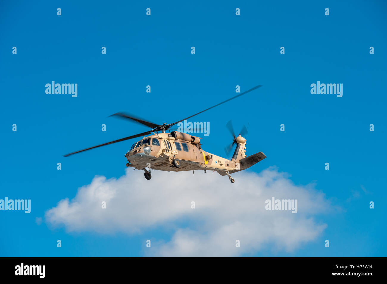 Israel, IDF, Sikorsky UH-60 Black Hawk helicopter Stock Photo