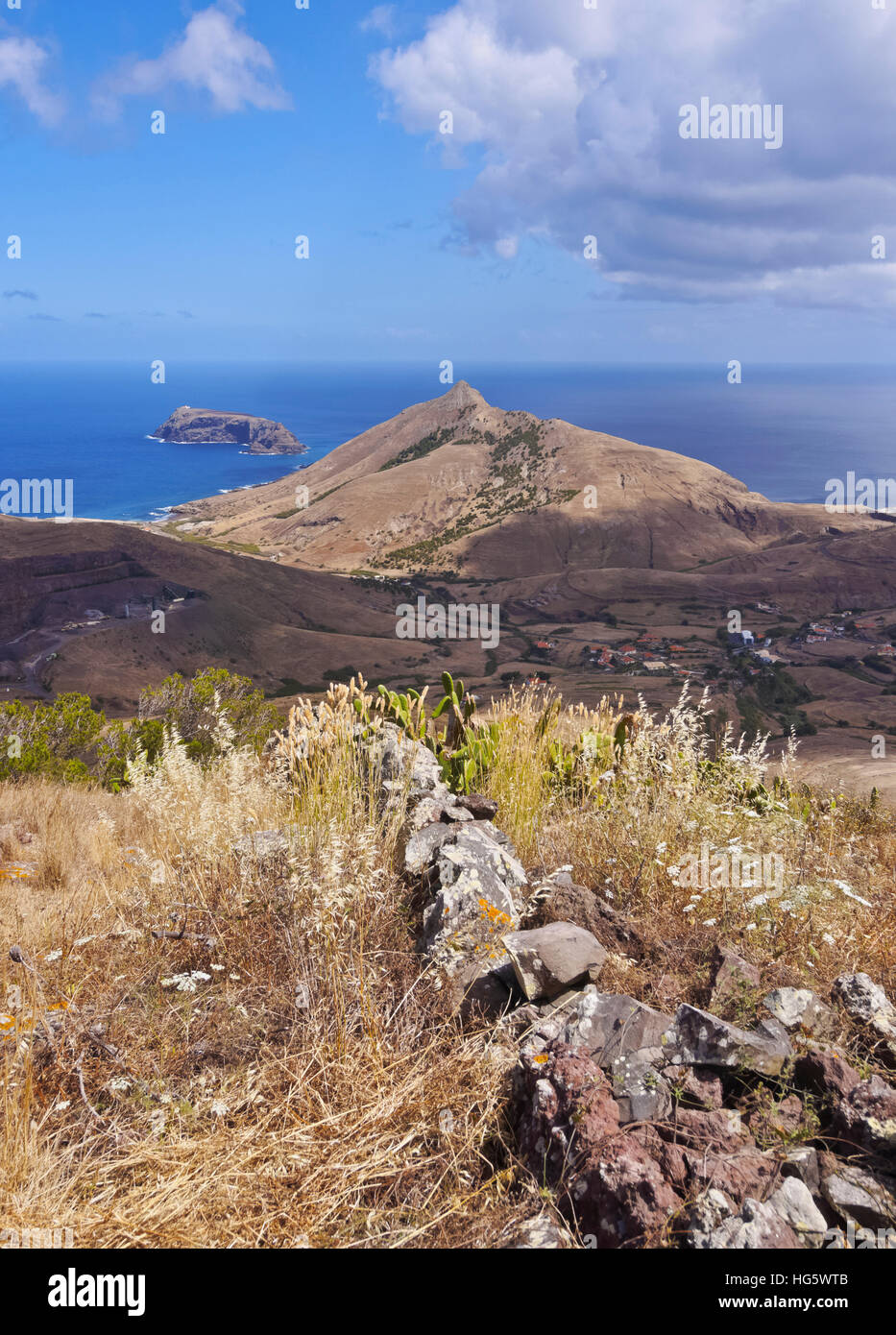 Portugal, Madeira Islands, Landscape of the Porto Santo Island. - Stock Image