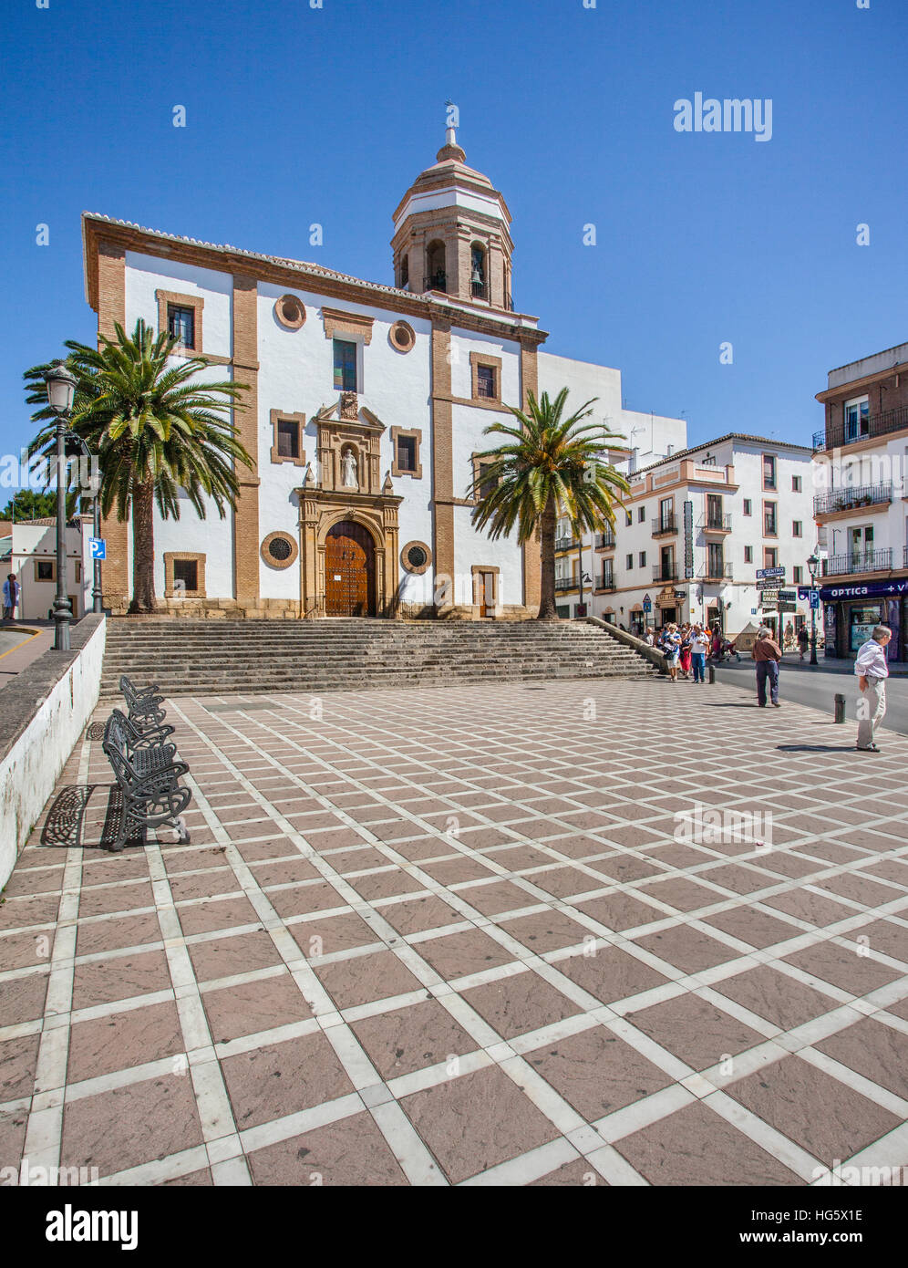 Spain, Andalusia, Province of Malaga, Ronda, 16th century Iglesia de Nuestra Senora de la Merced - Stock Image