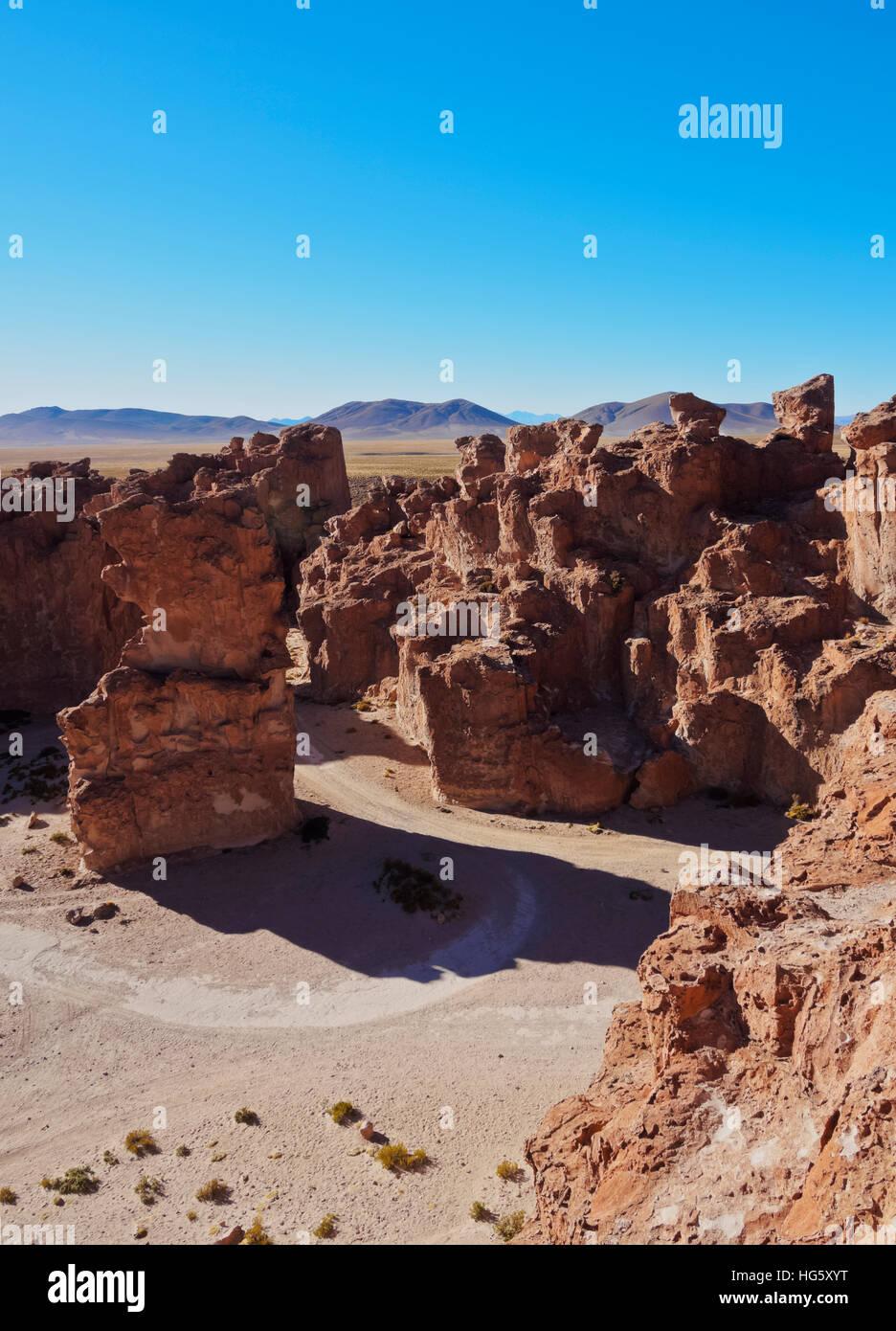 Bolivia, Potosi Departmant, Nor Lipez Province, Valle de las Rocas, Landscape of the Italia Perdida. - Stock Image