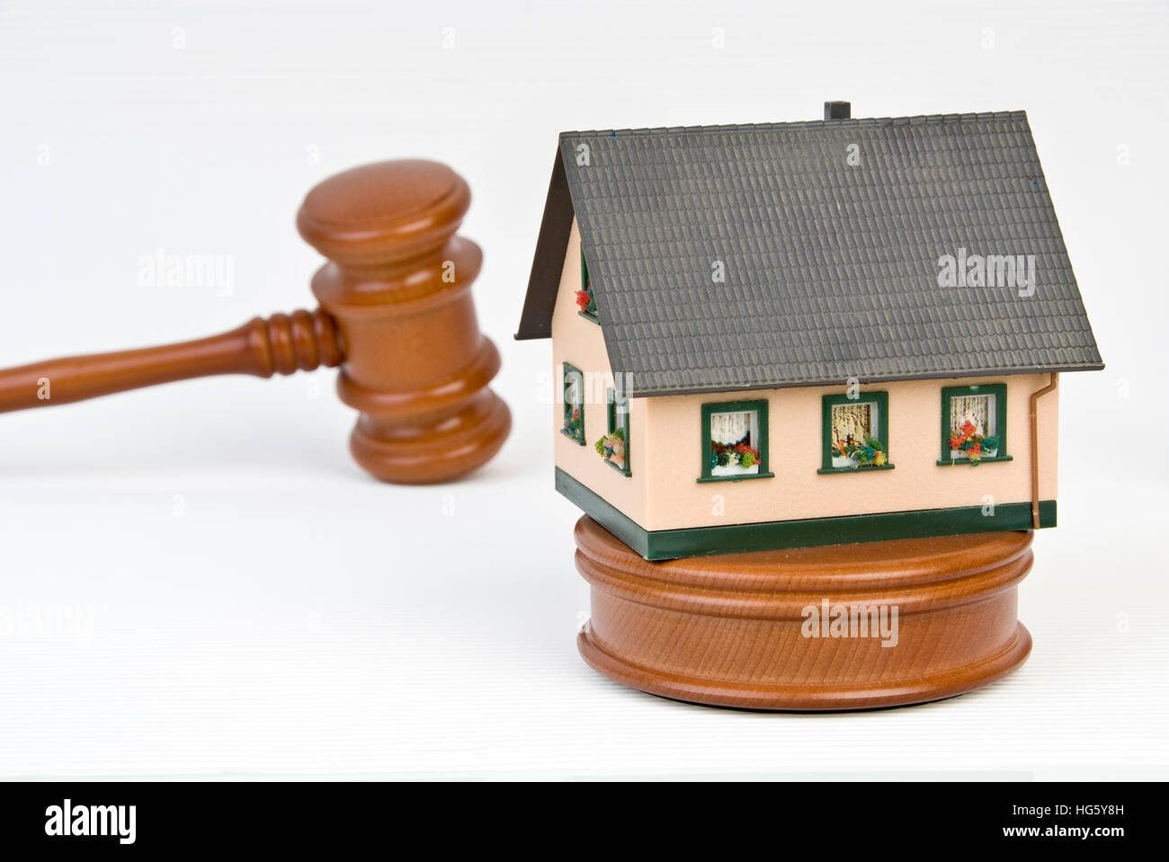 Symbolic for building auktion - Stock Image