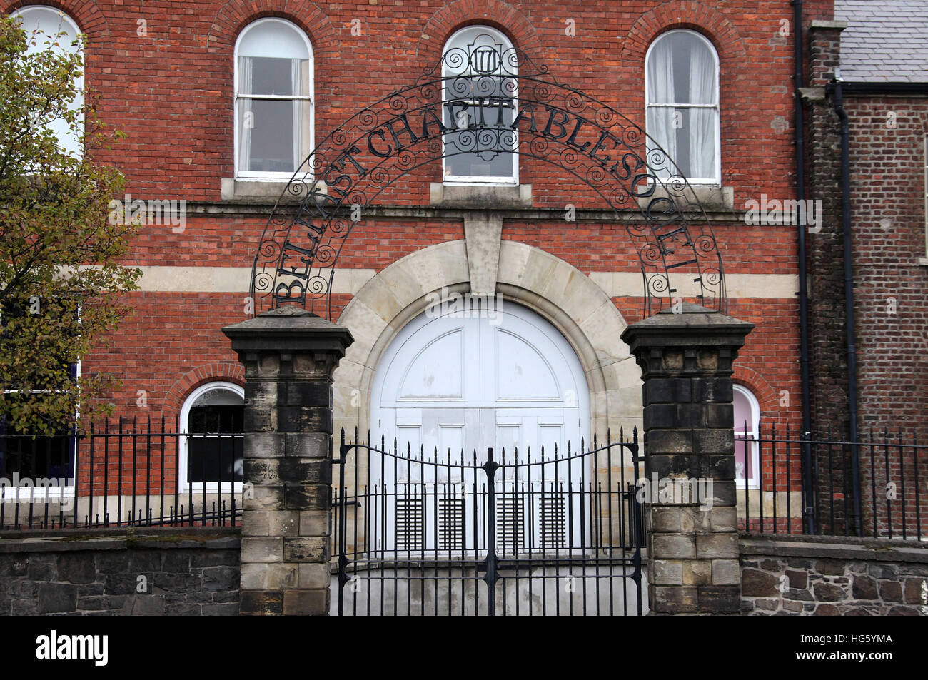 Belfast Charitable Society in Northern Ireland - Stock Image
