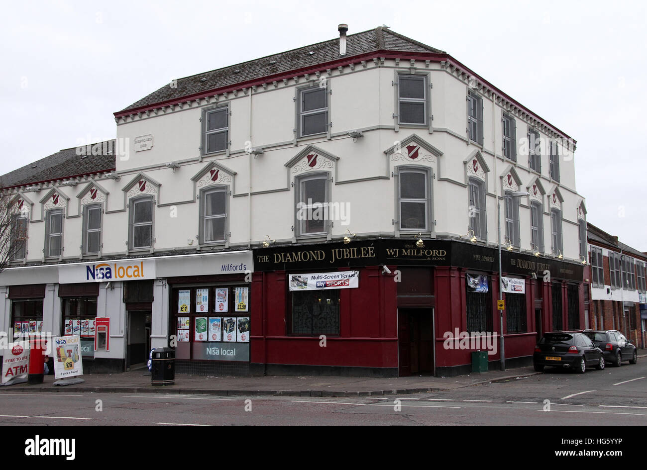 The Diamond Jubilee Pub on the Shankill Road - Stock Image