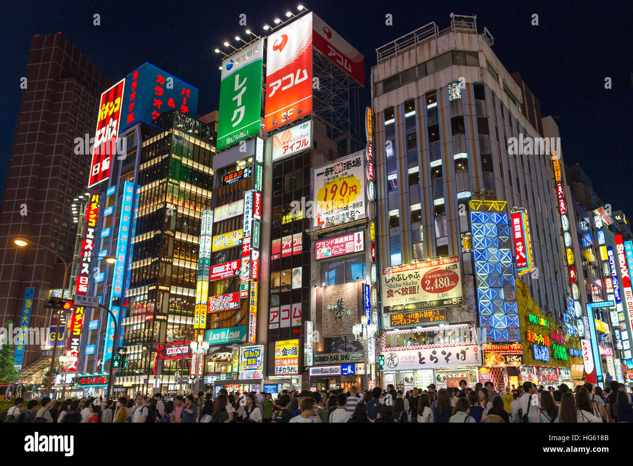 TOKYO - JUNE 11 : Entrance to Shinjuku's Kabuki-cho district JUNE 11, 2016 in Tokyo, JP. The area is a nightlife - Stock Image