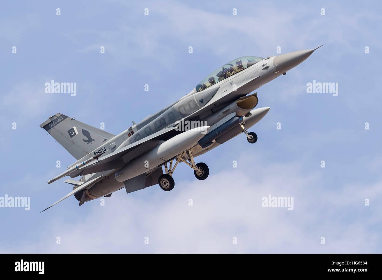 An F-16C of the Pakistan Air Force. - Stock Image
