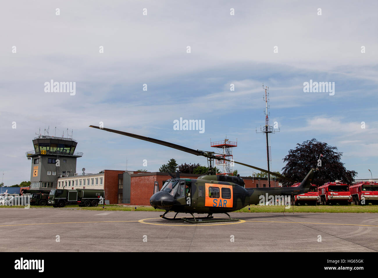 A German Army UH-1D Huey SAR helicopter. - Stock Image