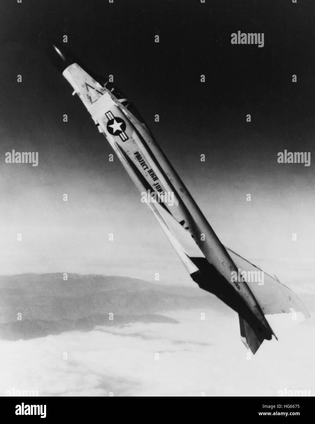 An F4H-1 Phantom II aircraft during Operation High Jump, circa 1962. - Stock Image