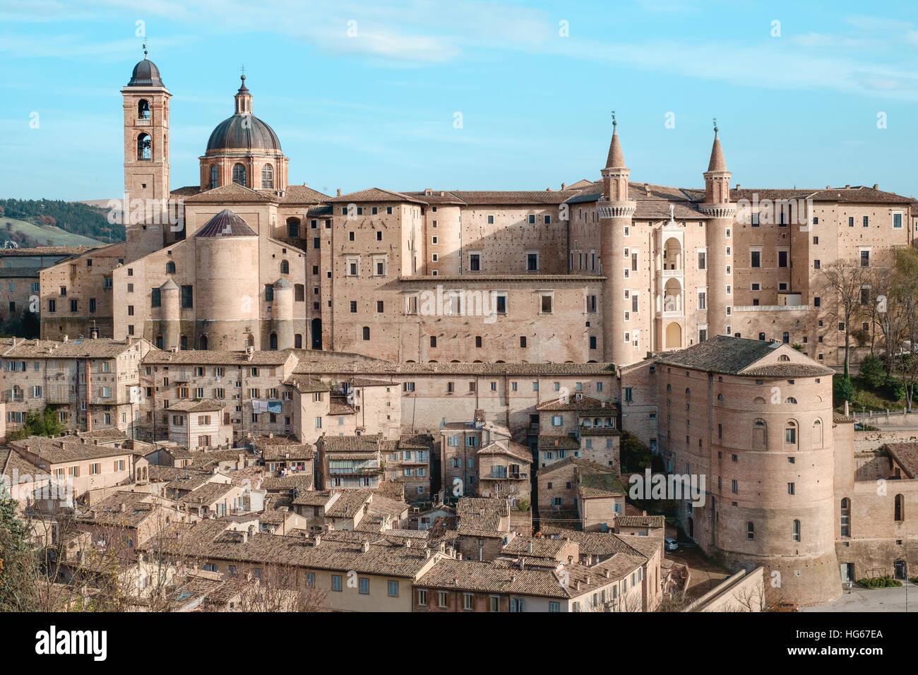 Urbino Marche Italy. Classic view - Stock Image