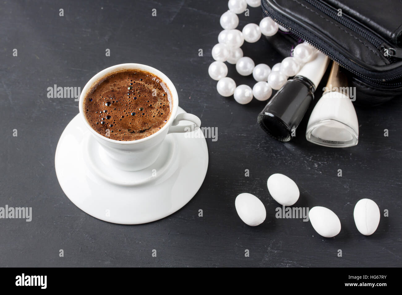 Turkish coffee with masculine style - Stock Image