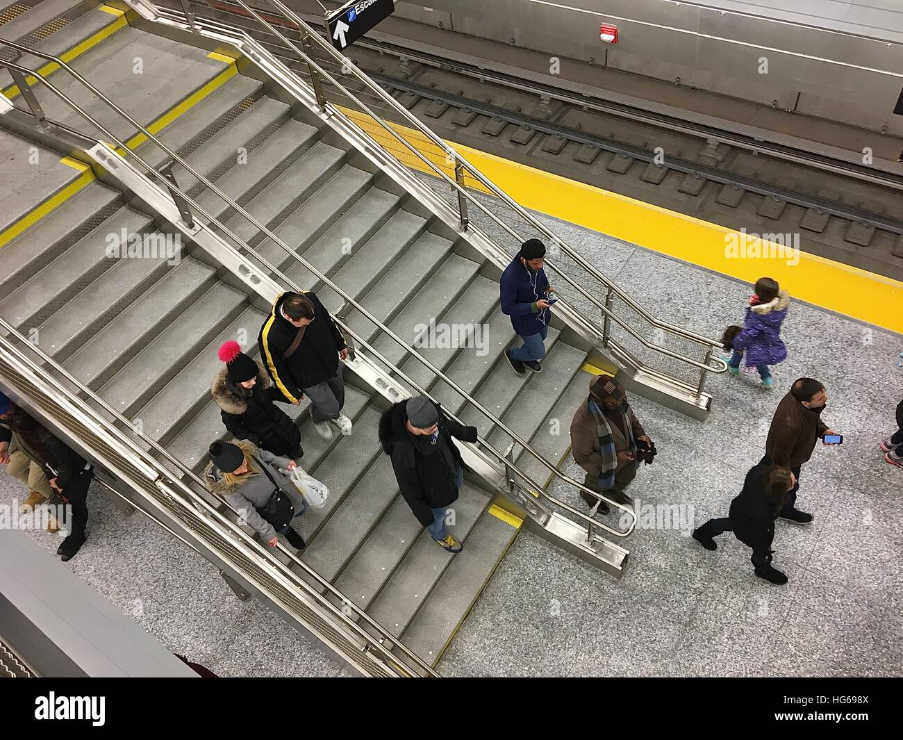 72nd Street And 2nd Avenue Subway Station On The Grand Opening Of Second Line In New York January 1 2017