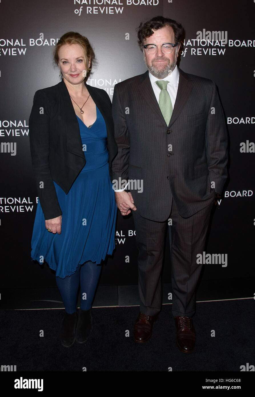 New York, NY, USA. 4th Jan, 2017. J. Smith-Cameron, Kenneth Lonergan at arrivals for National Board Of Review Awards - Stock Image