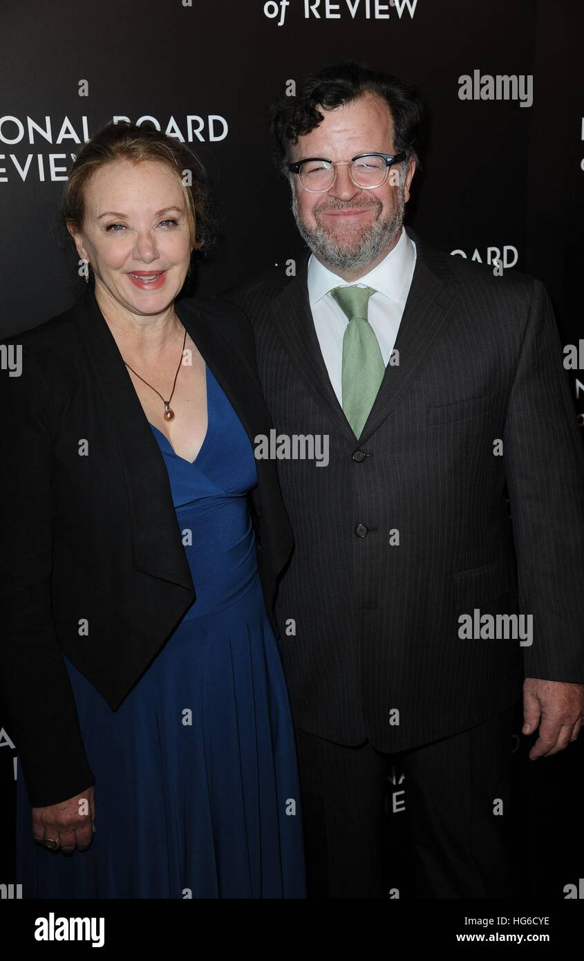 New York, NY, USA. 4th Jan, 2017. J Smith Cameron, Kenneth Lonergan at arrivals for National Board Of Review Awards Stock Photo