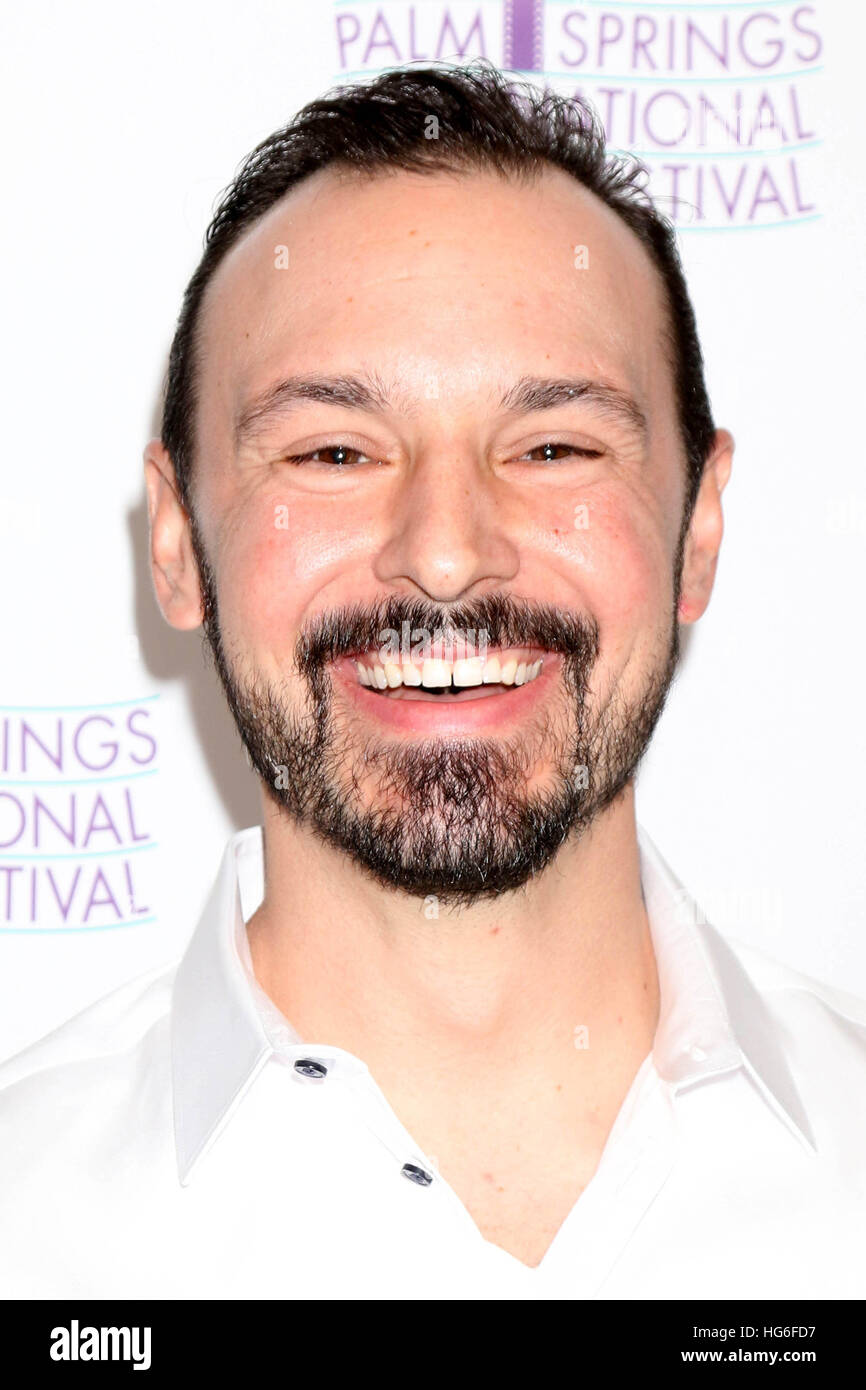 Palm Springs, Ca. 4th Jan, 2017. Andrew McGuiness at the Do It Or Die! World Premiere during the 2017 Palm Springs - Stock Image