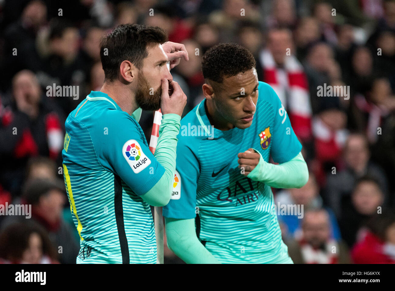 Messi neymar stock photos messi neymar stock images alamy bilbao spain 5th january 2017 leo messi forward fc barcelona voltagebd Image collections
