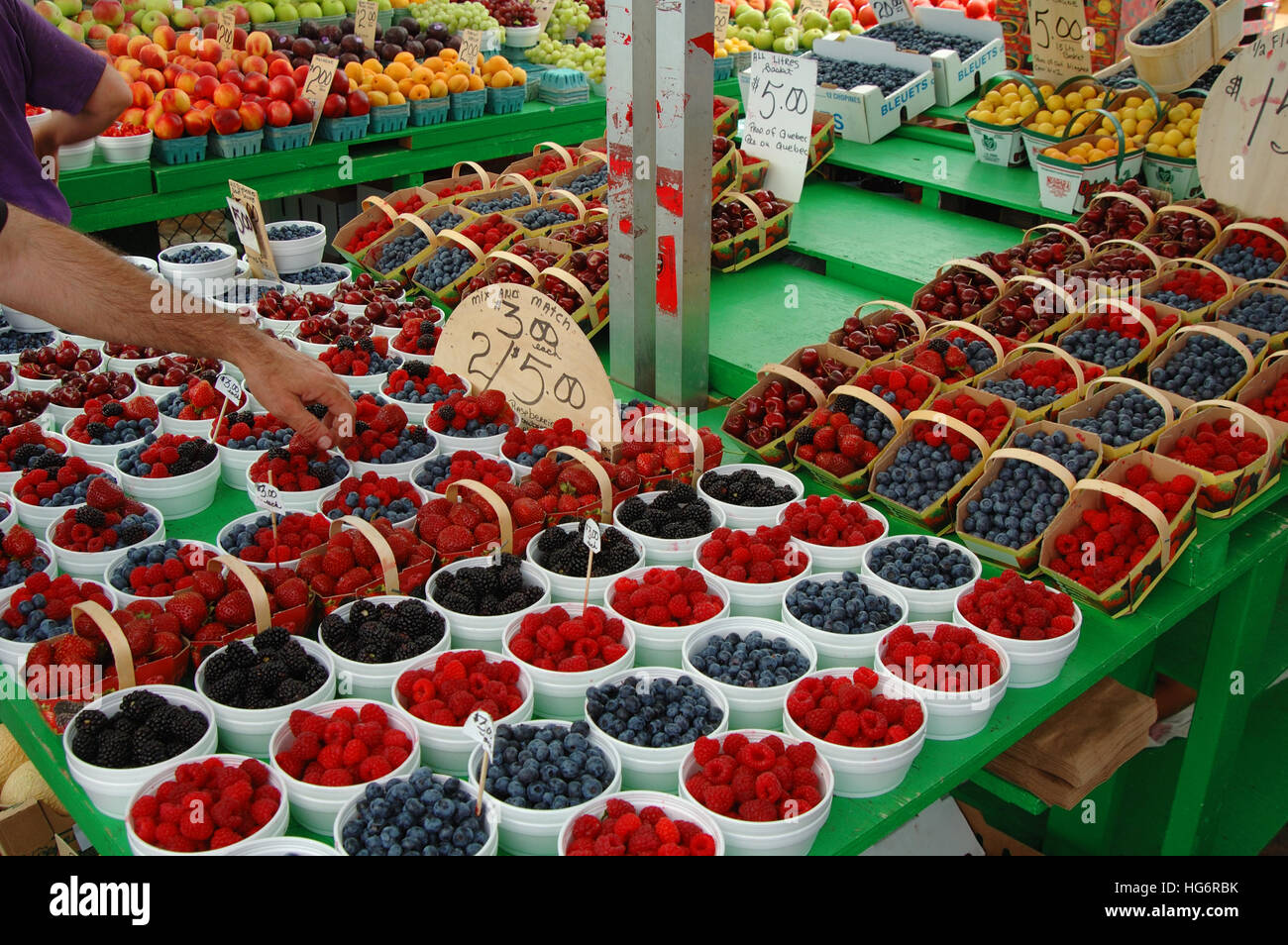 Berries mix the market, Canada - Stock Image