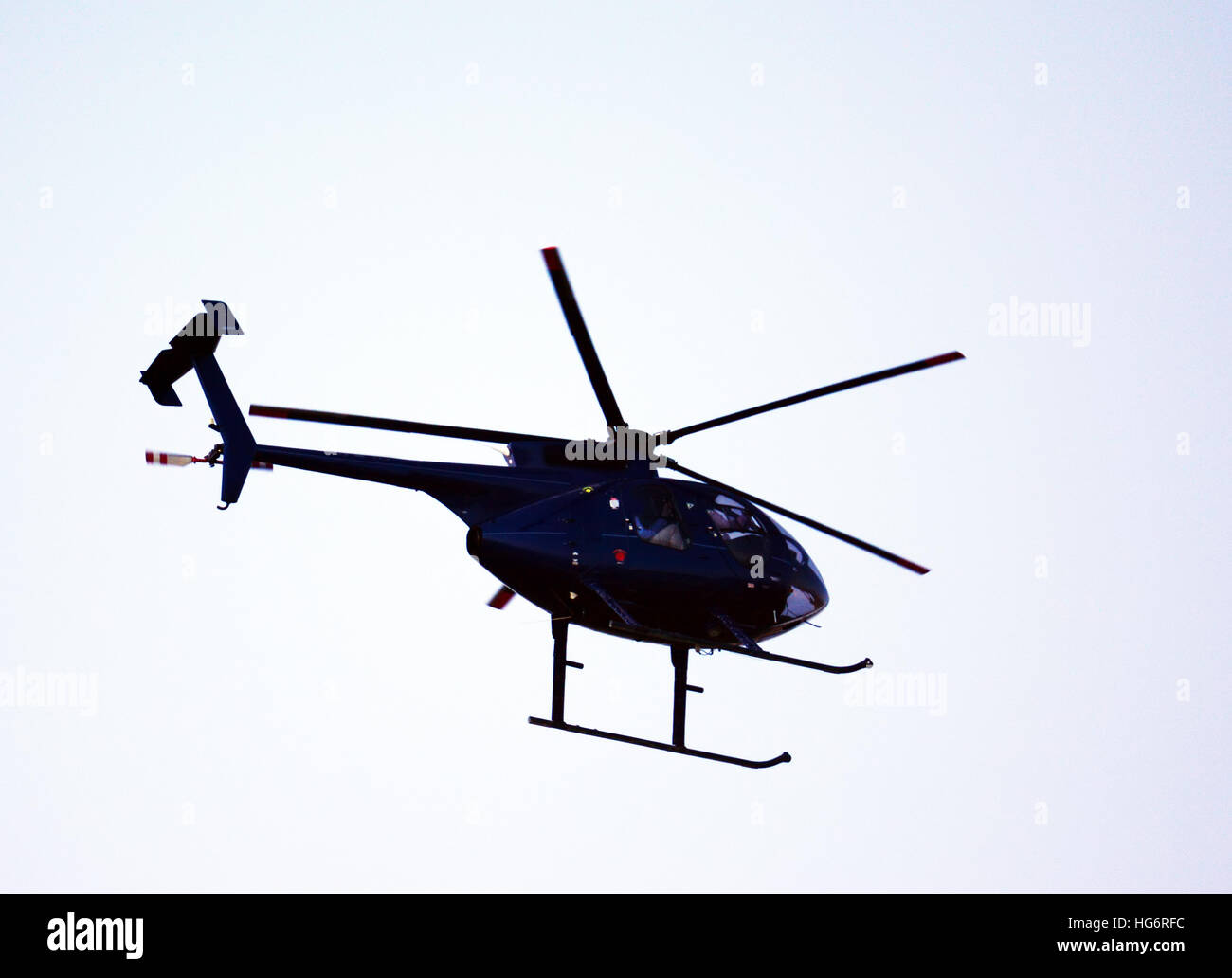 Helicopter silhouette - Stock Image