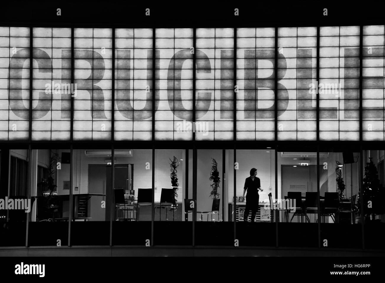 The Crucible Theatre, Sheffield, UK - Stock Image