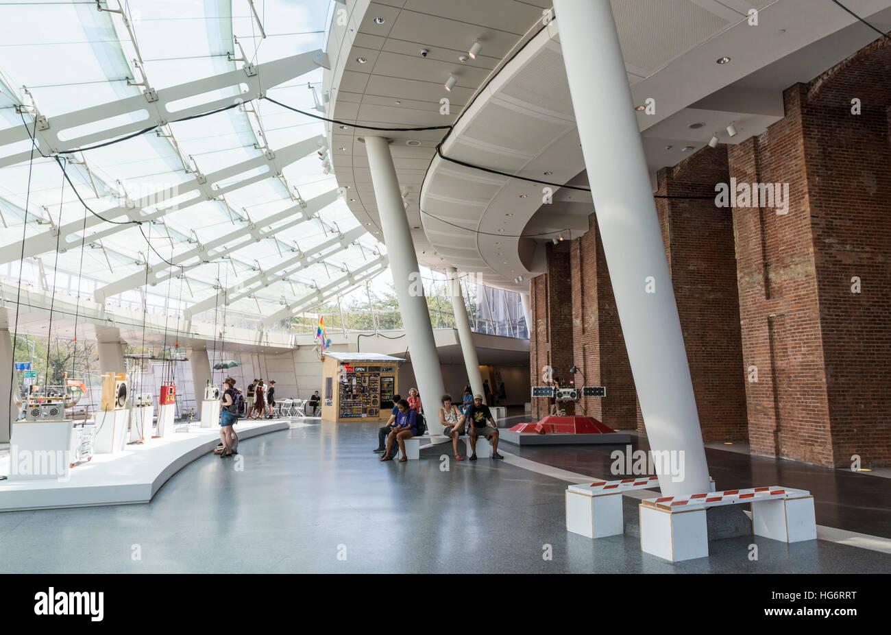 Interior lobby of the Brooklyn Museum, Brooklyn, New York. Stock Photo