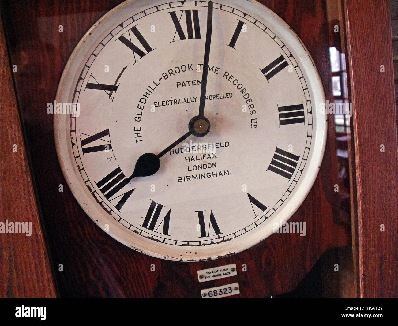 ClockingIn Machine, Gledhill Brook,Time Recorders - Stock Image