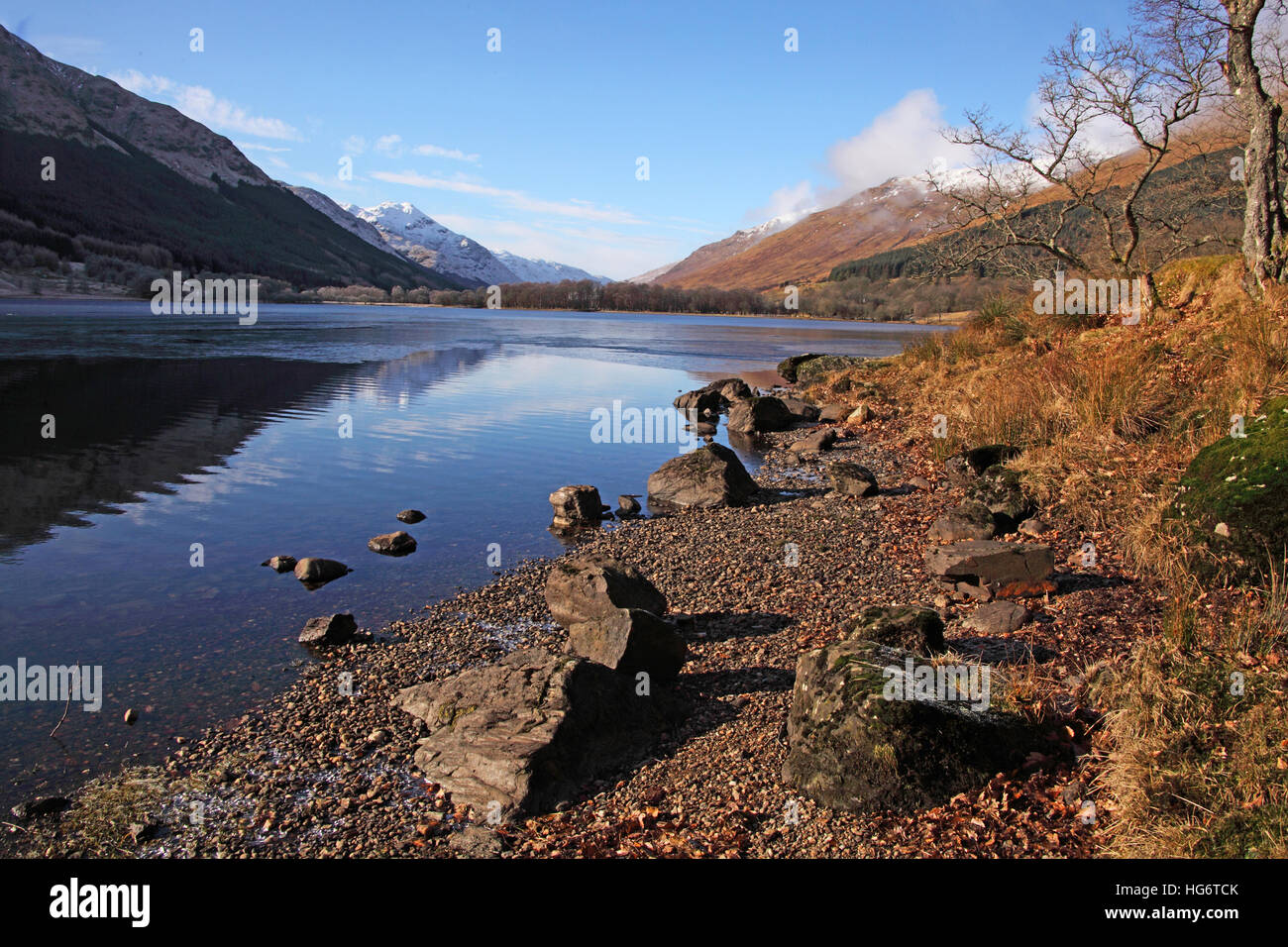 Balquhidder,Sterling,Scotland, UK - Rob Roy Red MacGregors resting place - Stock Image