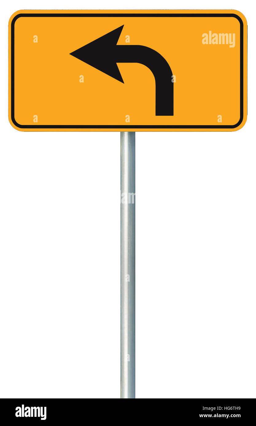 a9599f008780 Left turn ahead route road sign