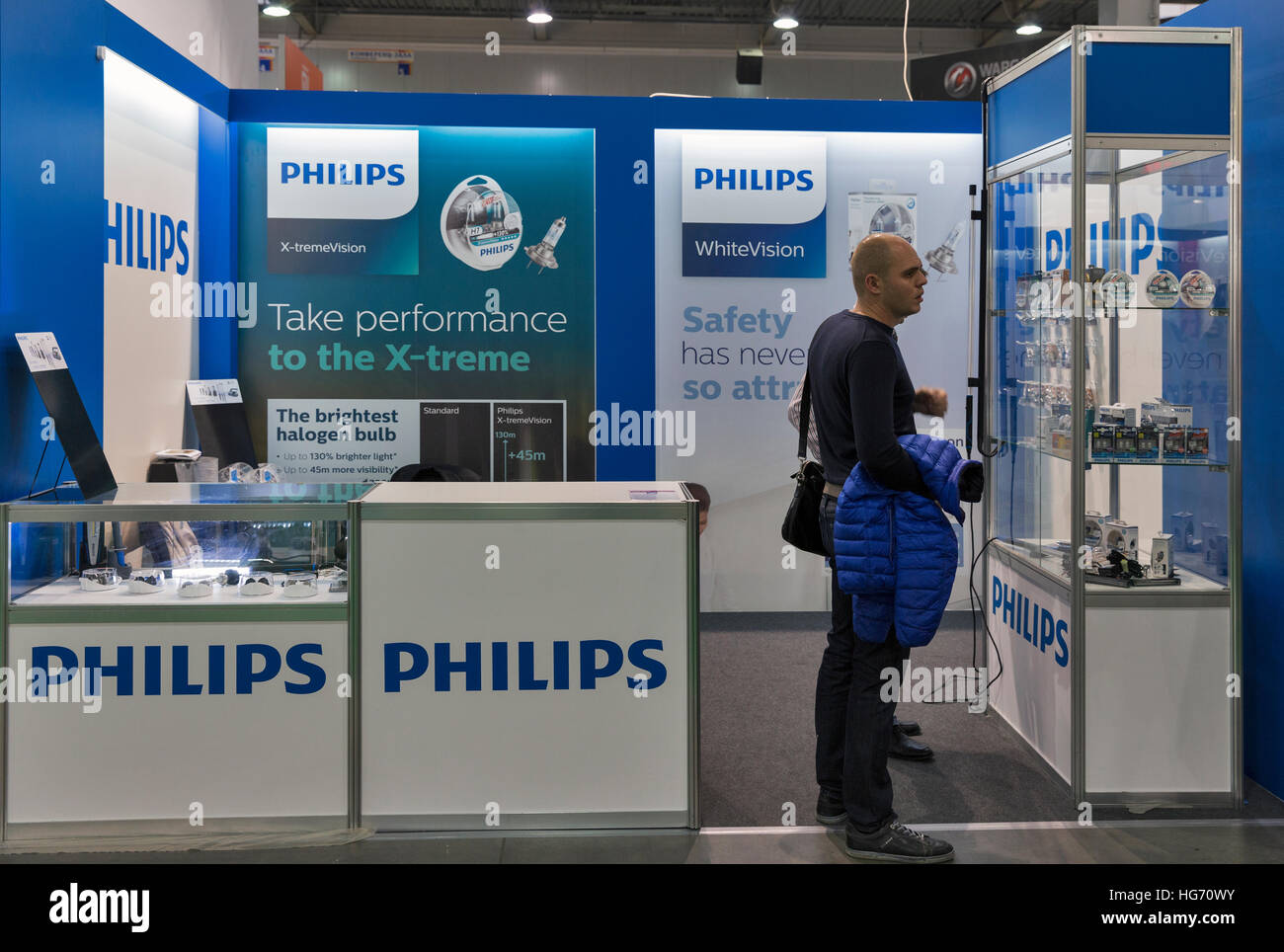 Unrecignized people visit Philips Lighting Dutch technology company booth during CEE 2016. & Unrecignized people visit Philips Lighting Dutch technology company ...