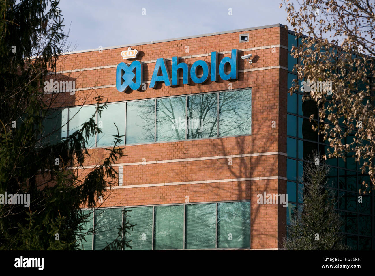 A logo sign outside of a facility occupied by Koninklijke Ahold in Chantilly, Virginia on December 31, 2016. - Stock Image