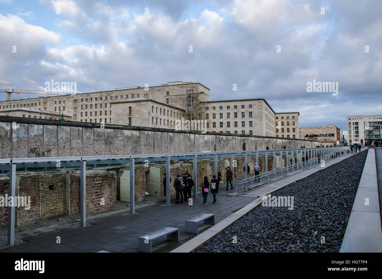 Topography of Terror on a gray day Stock Photo