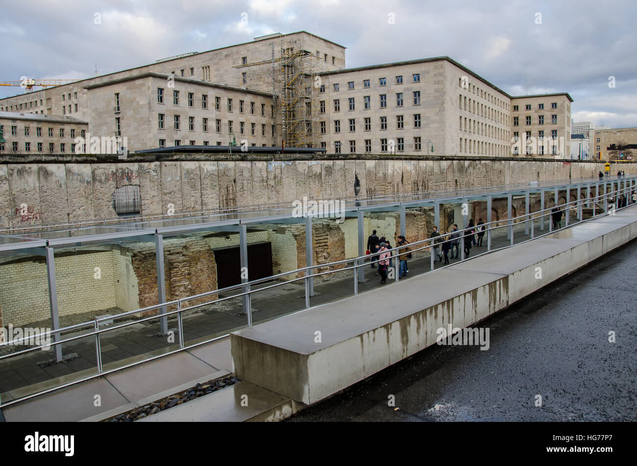 Topography of Terror on a gray day - Stock Image