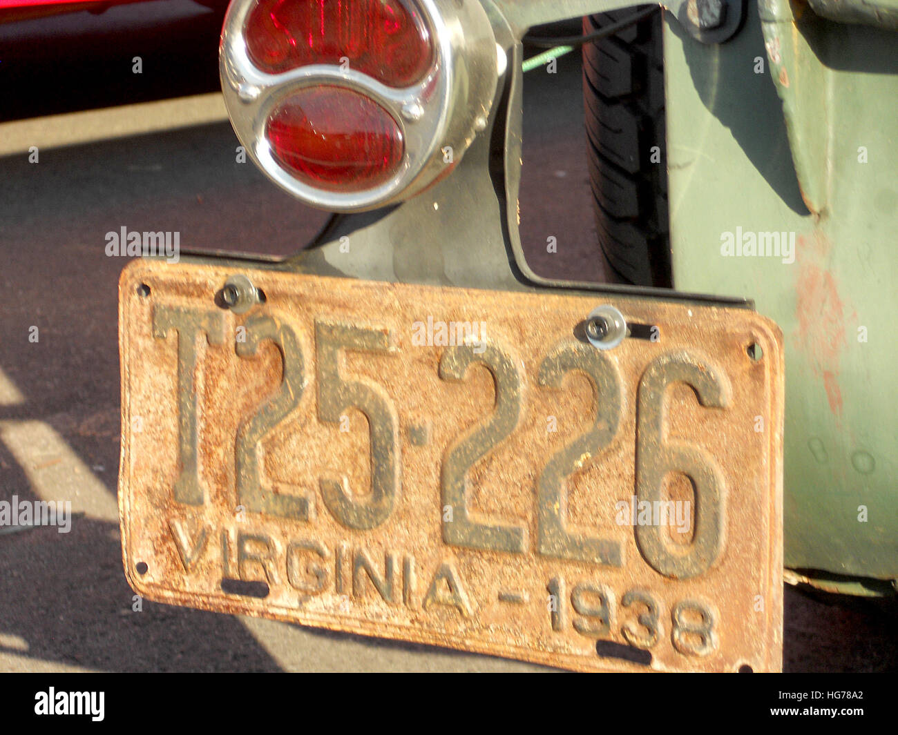 Old Car License Plate Stock Photos & Old Car License Plate Stock ...