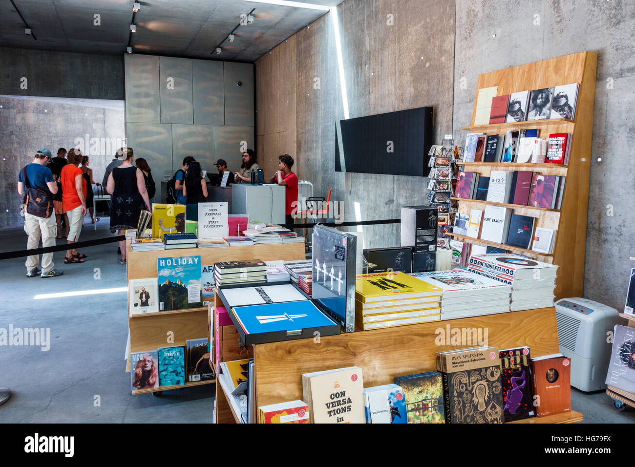 New York New York City NYC Queens Long Island City MoMA PS1 Interior  Contemporary Art Museum Store Shopping Books Display Sale