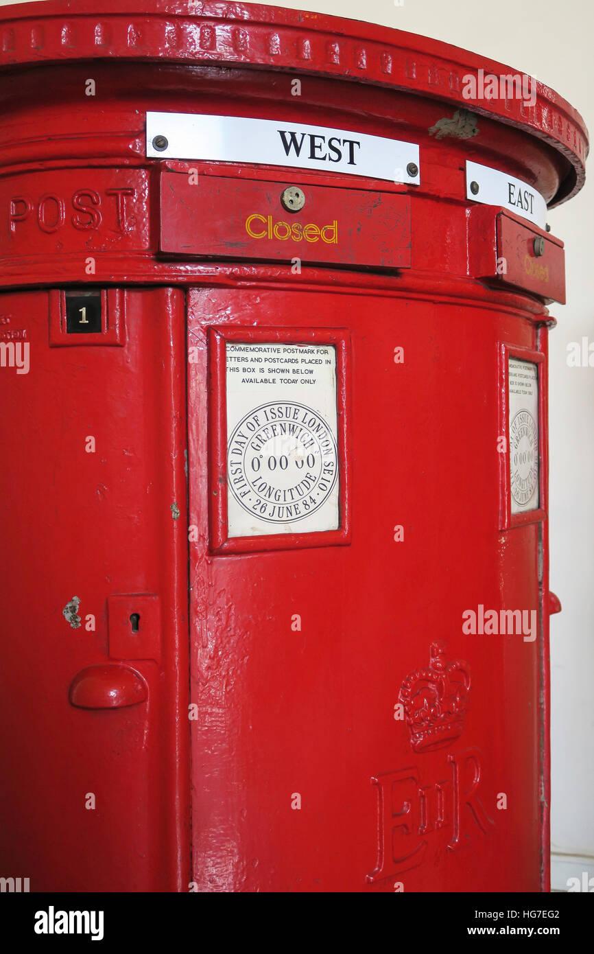 International Display, British Postal Box, James A. Farley Main Post Office, Chelsea, NYC - Stock Image