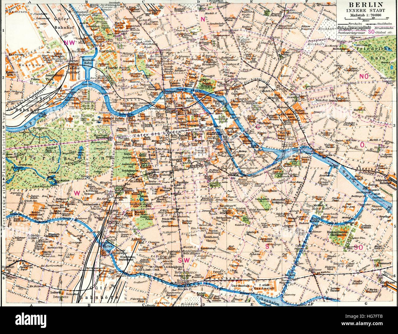 Berlin Map Stock Photos & Berlin Map Stock Images - Alamy