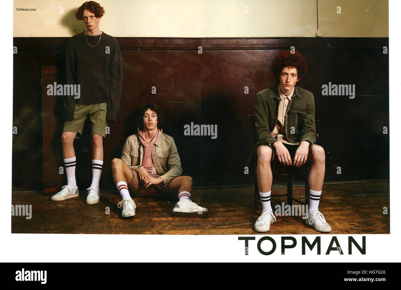 2010s UK Topman Magazine Advert - Stock Image