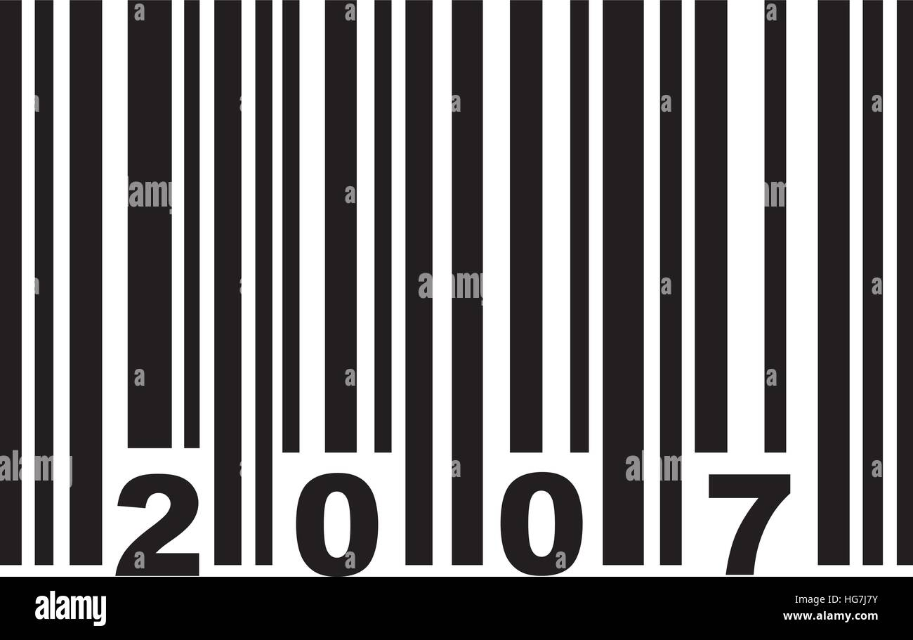 Barcode 2007 - Stock Vector