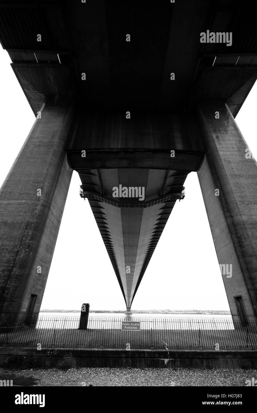North tower, Humber bridge, Hessle, east Yorkshire Stock Photo
