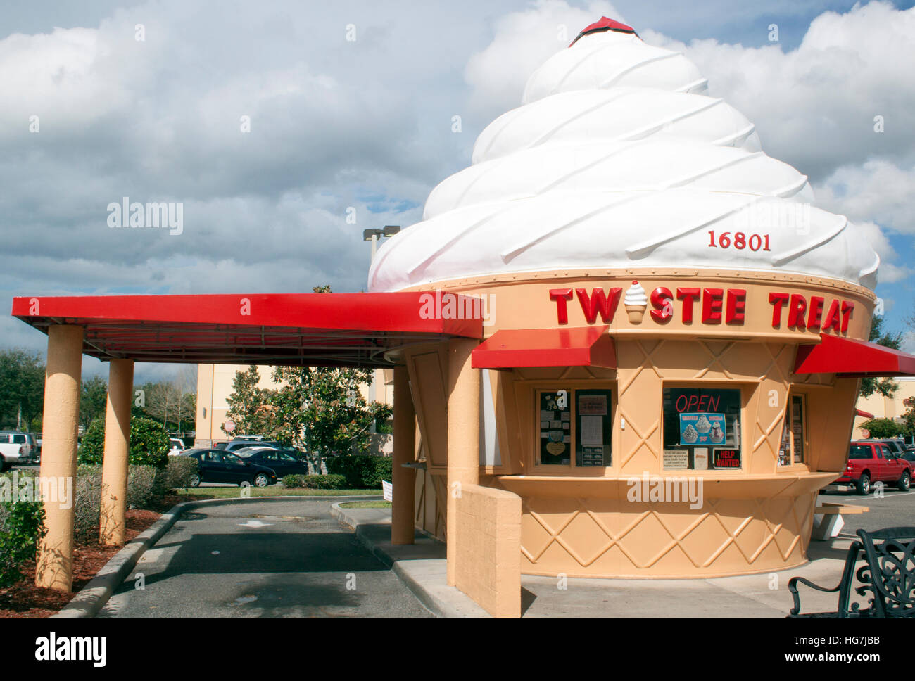 Ice Cream Cone shaped building in Kissimmee Florida - Stock Image