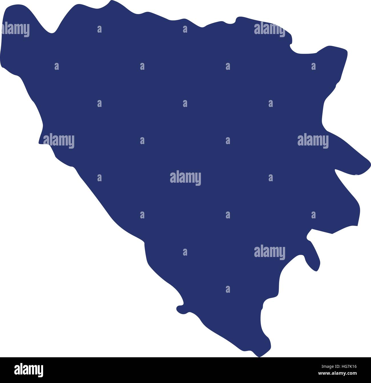 Bosnia and Herzegovina map - Stock Vector