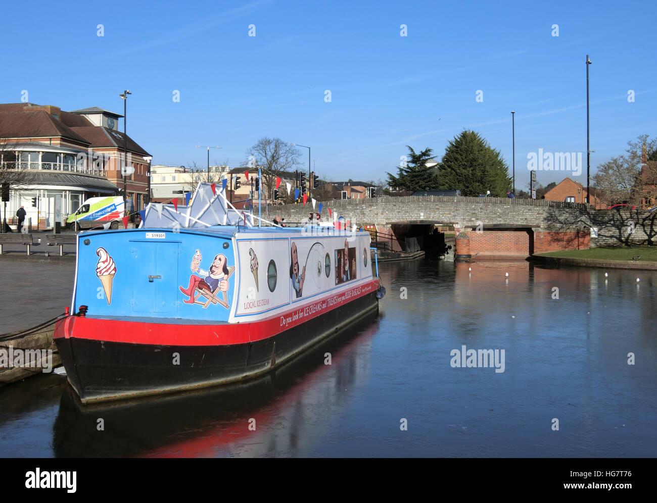 Bancroft Canal Basin, Stratford Upon Avon. Warwickshire, England, UK Stock Photo