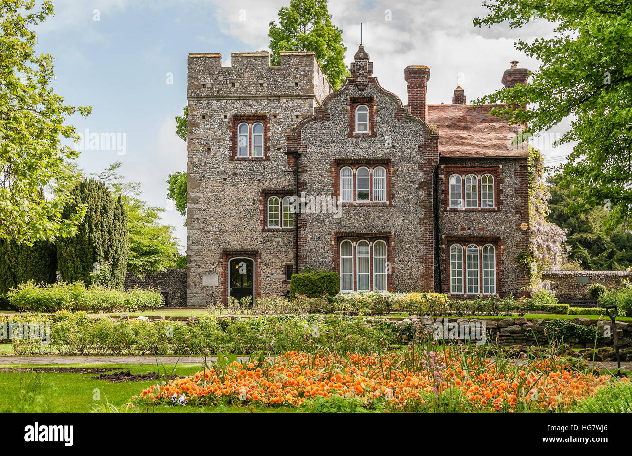 The Tower House at the Westgate Gardens in Canterbury, Kent, England. Tower House is used as the Lord Mayor's - Stock Image