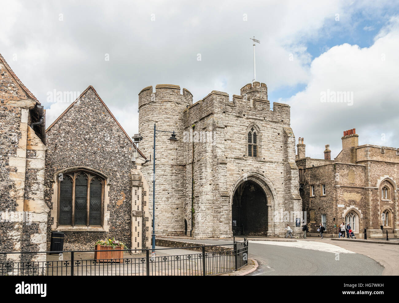 The Westgate a medieval  gatehouse  in Canterbury, Kent, England. - Stock Image