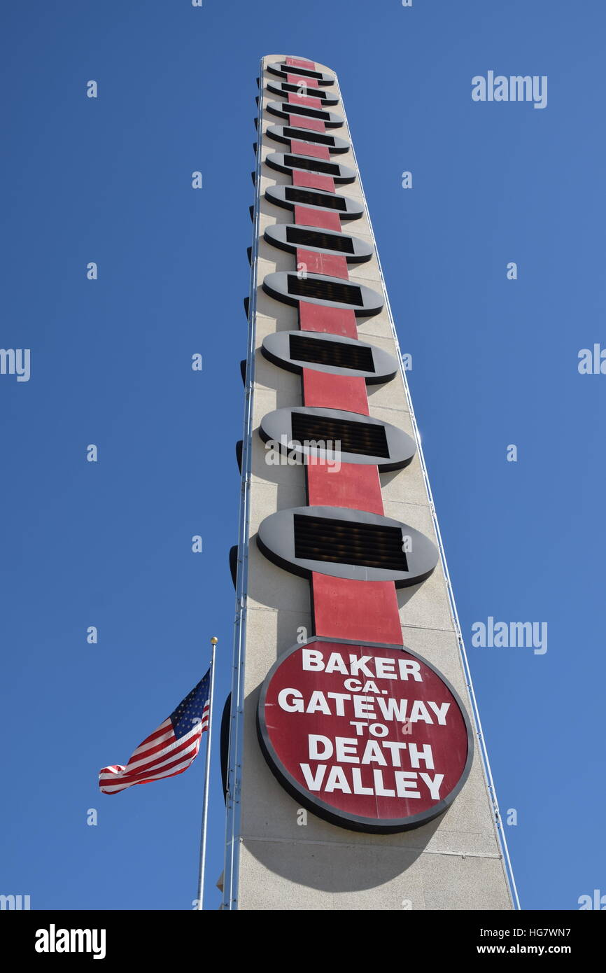 Tallest Thermometer in the world. - Stock Image