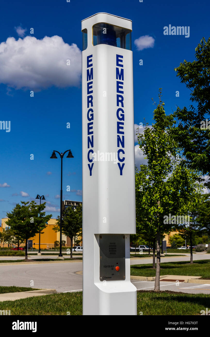 Emergency Entrance Beacon for a Local Hospital X2 - Stock Image